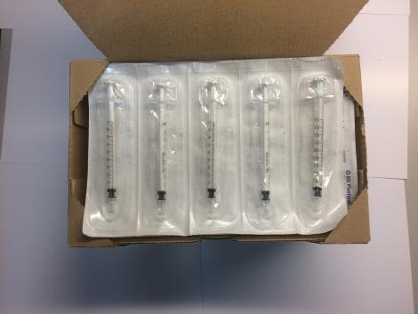 Syringe, 1ml, for membrane dosing