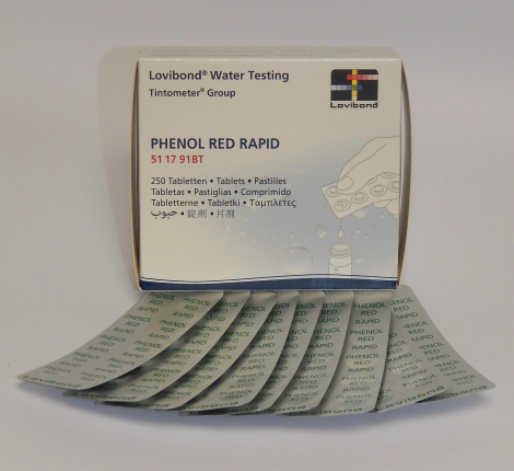 Phenol Red,Rapid dissolv.tablets/PAC-250