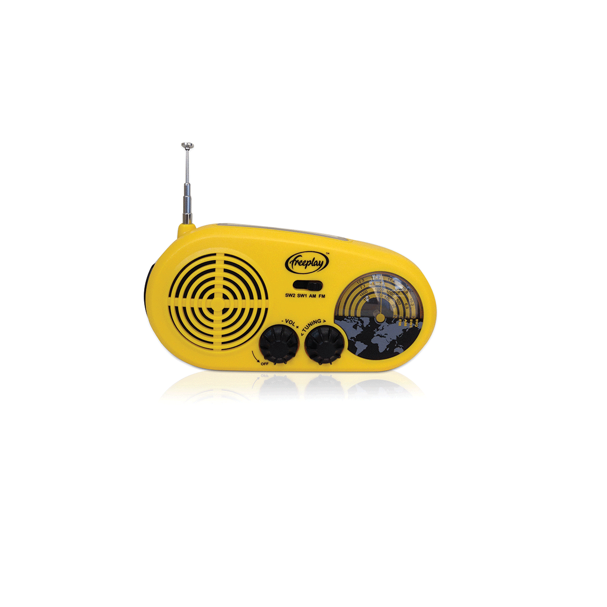 Hand-Held Radio,Multiband,Solar,Wind-Up
