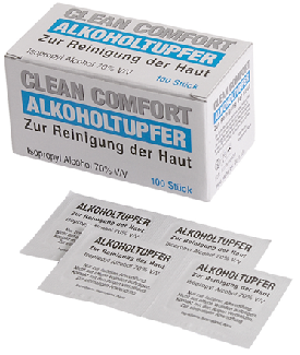Compress,gauze,anti-septic,6x3cm,box/100