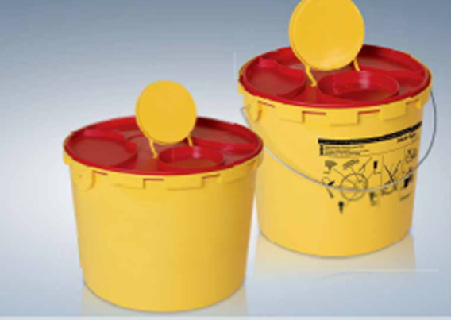 Container, sharps, leak-proof plastic,4L
