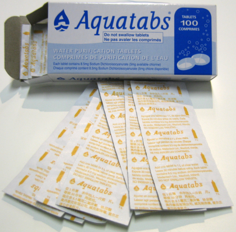Water purif.(NaDCC) 167mg tabs/BOX-14000