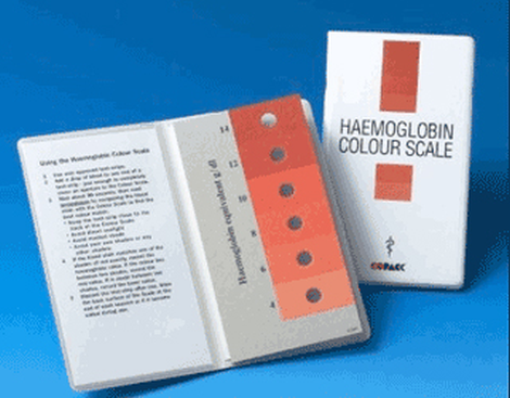 Haemoglobin colour scale (starter kit)