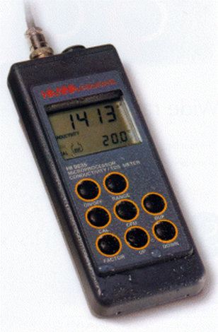 Conductivity meter,pocket,0-100 mS