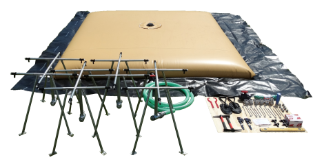Water tank,collapsible,20000l,w/dist.kit