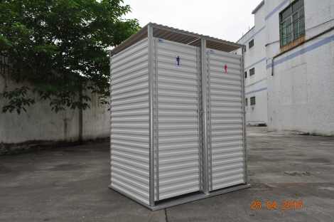 Latrine superstructure, double cubicle