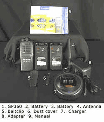 VHF portable radio kit,Motorola GP360