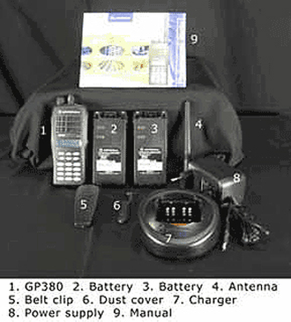 VHF portable radio kit,Motorola GP380