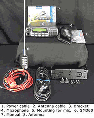 VHF mobile station kit,Motorola GM360