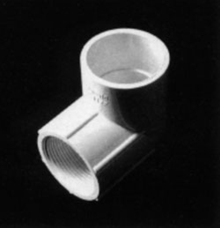 "Elbow 90º,PVC,scj/fthd,40mm x 1¼""-P"