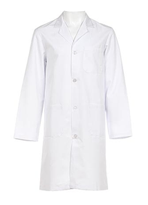 Coat, medical, woven, white, medium size