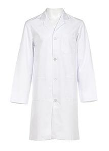 Coat, medical, woven, white, large size