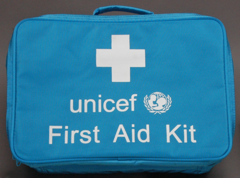 First Aid bag,UNICEF,blue,410x280x170mm