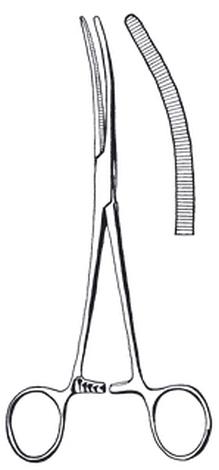 Forceps,artery,Pean/Roch,200mm,cvd