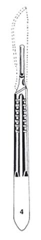 Scalpel handle,no.4