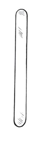 Spatula,abdo,malleable,250mm