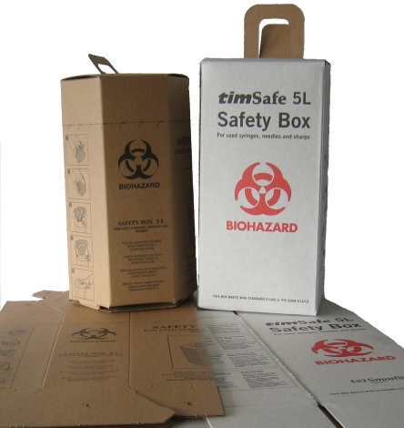 Safety box f.used syrgs/ndls 5lt/BOX-25