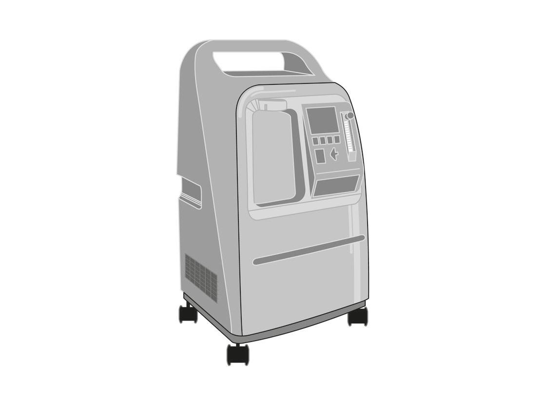 Oxygen concentrator, 10 LPM, single flow