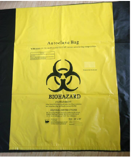 Bag, biohazard, 20L, box/100