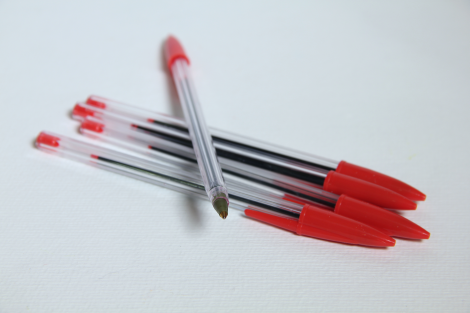 Pen,ball-point,red/BOX-10