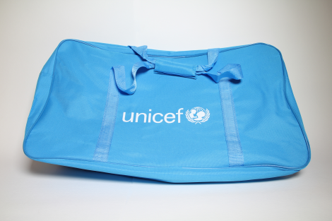 Bag,UNICEF,blue polyester,360x230x610mm