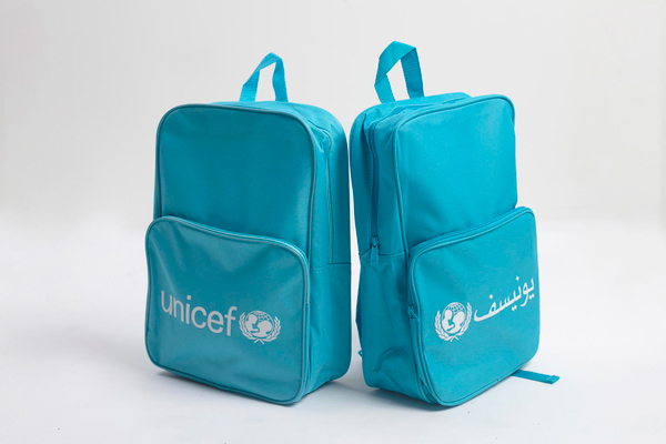 Bag,school,UNICEF,ARABIC,400x270x100mm