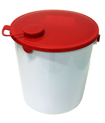 Bucket,HDPE,with lid,14 l