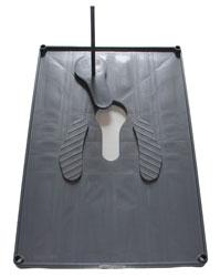 Squatting plate,plastic,w/o pan,120x80cm