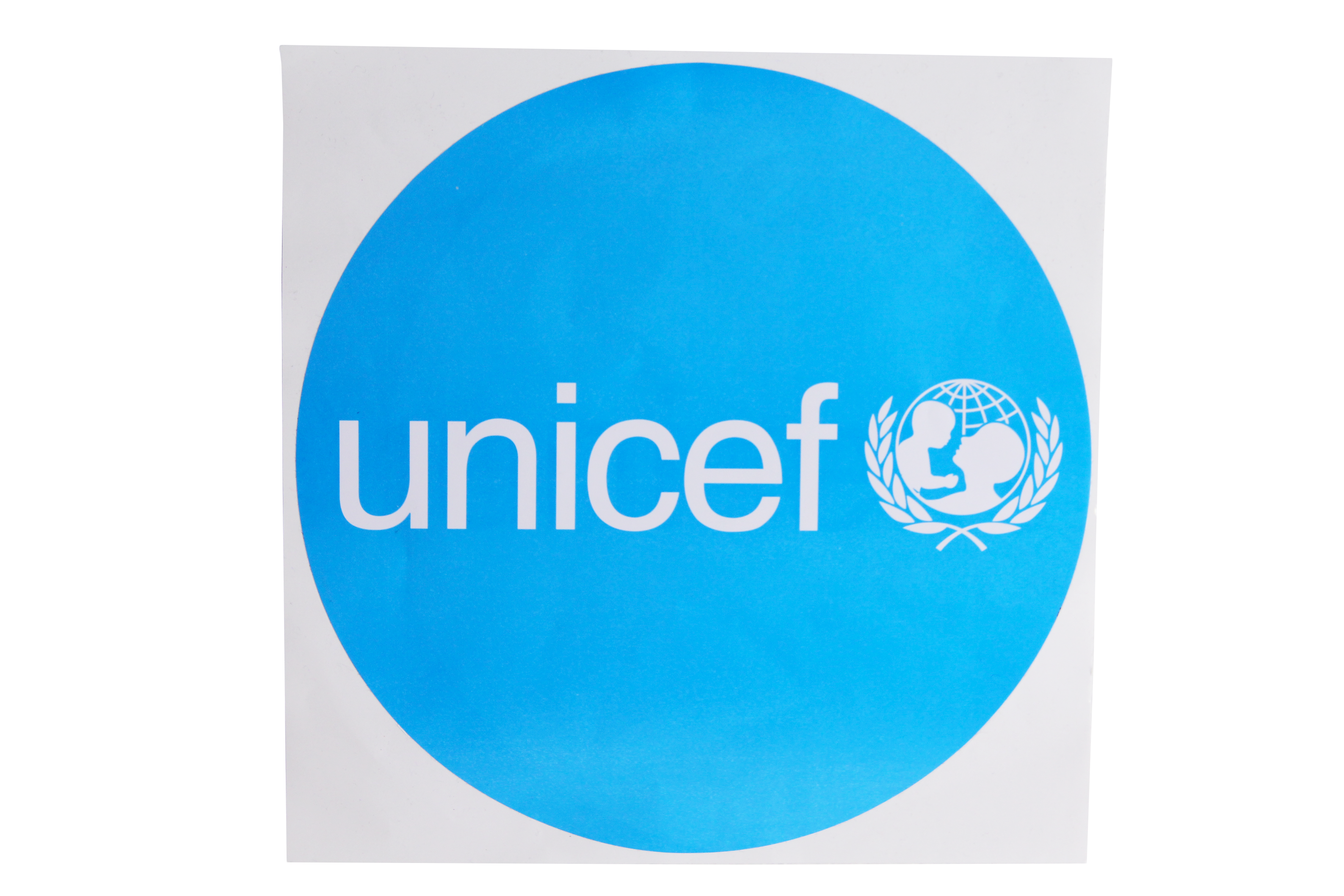 Decal,UNICEF,round,diameter 205mm