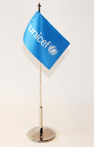 Flag set,desk,UNICEF