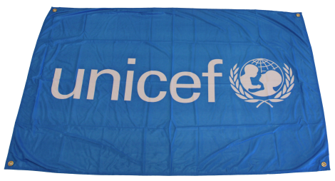 Banner,UNICEF,150 x 225cm