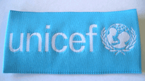 Insignia,UNICEF,cloth,85 x 41mm