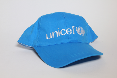 Cap,UNICEF,baseball,cyan blue,cotton