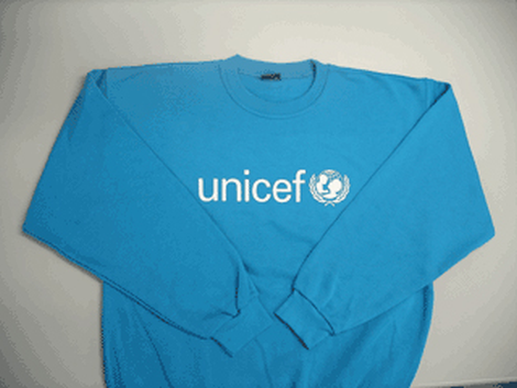 Sweatshirt,UNICEF,blue,poly/cotton,L