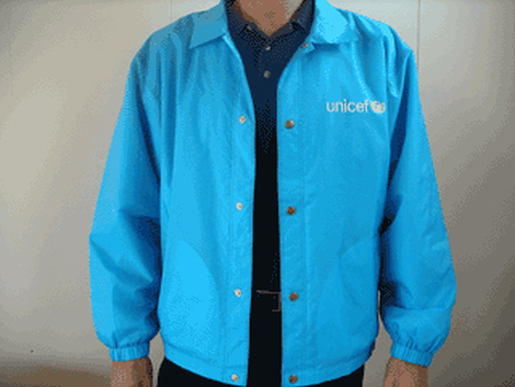 Windbreaker,UNICEF,cyan blue,lined,L