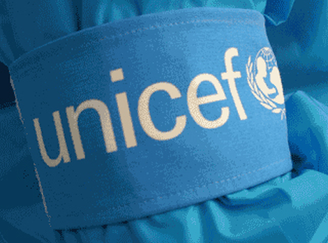 Armband,UNICEF,cyan blue cloth