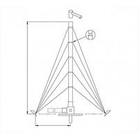 Portable antenna mast,aluminium,12m