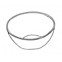 Bowl,round,stainless steel,4L