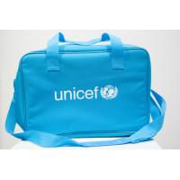 Bag,UNICEF,blue nylon,280x410x170mm