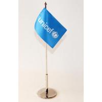 Flag set,desk,UNICEF
