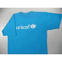 UNICEF T-shirt,cyan blue,cotton,M