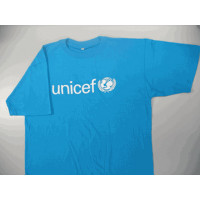 UNICEF T-shirt, cyan blue,cotton,XL