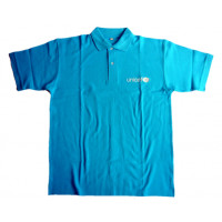 UNICEF Adult Polo-shirt, cyan blue,L