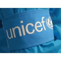 Armband,UNICEF,cyan blue cloth