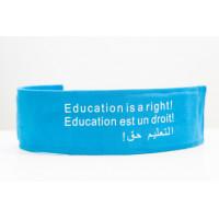 Armband, Education, cyan blue, cloth.