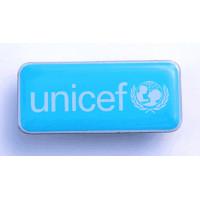 Rectangular UNICEF lapel pin,38 mm long
